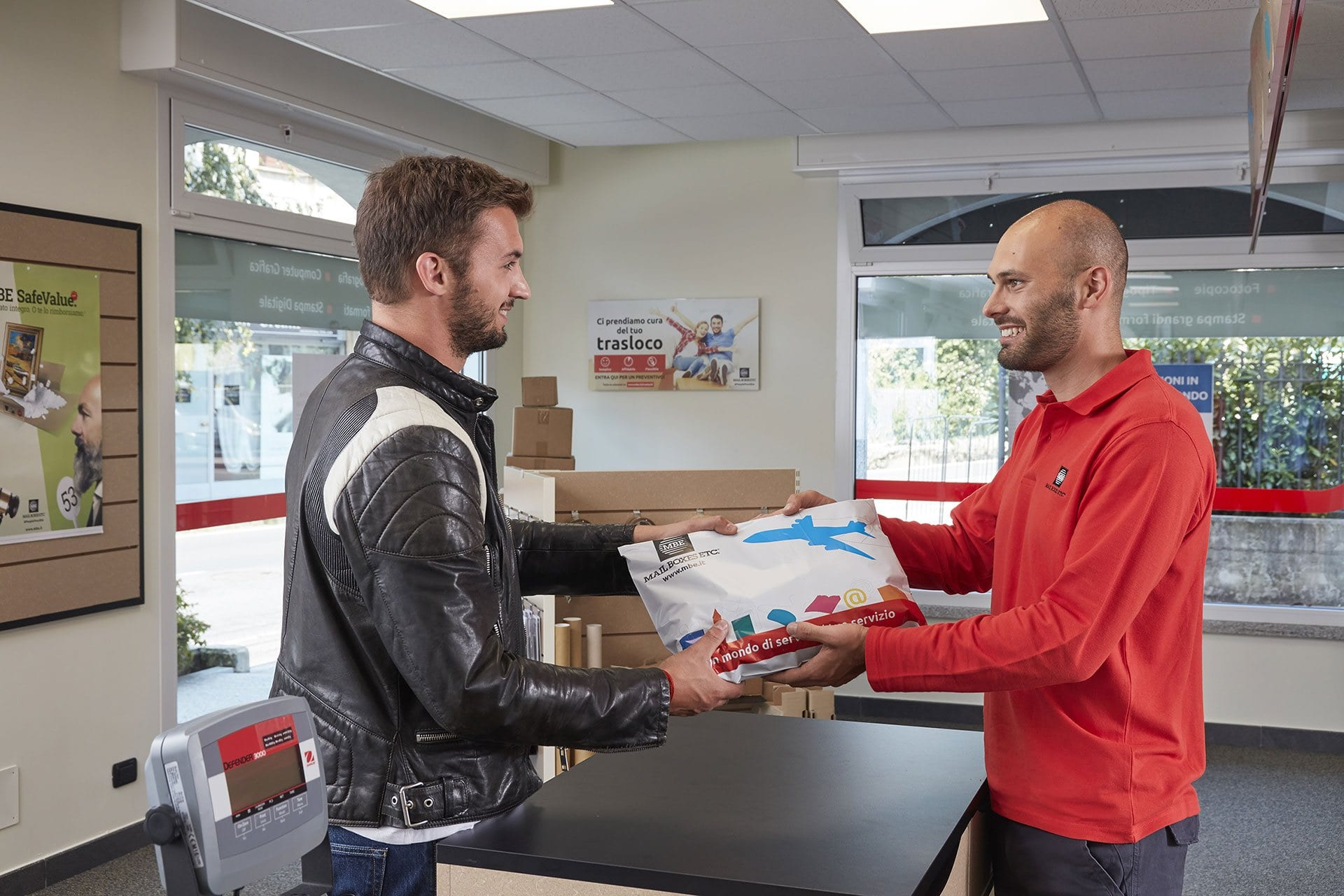 Happy MBE client receive his parcel.