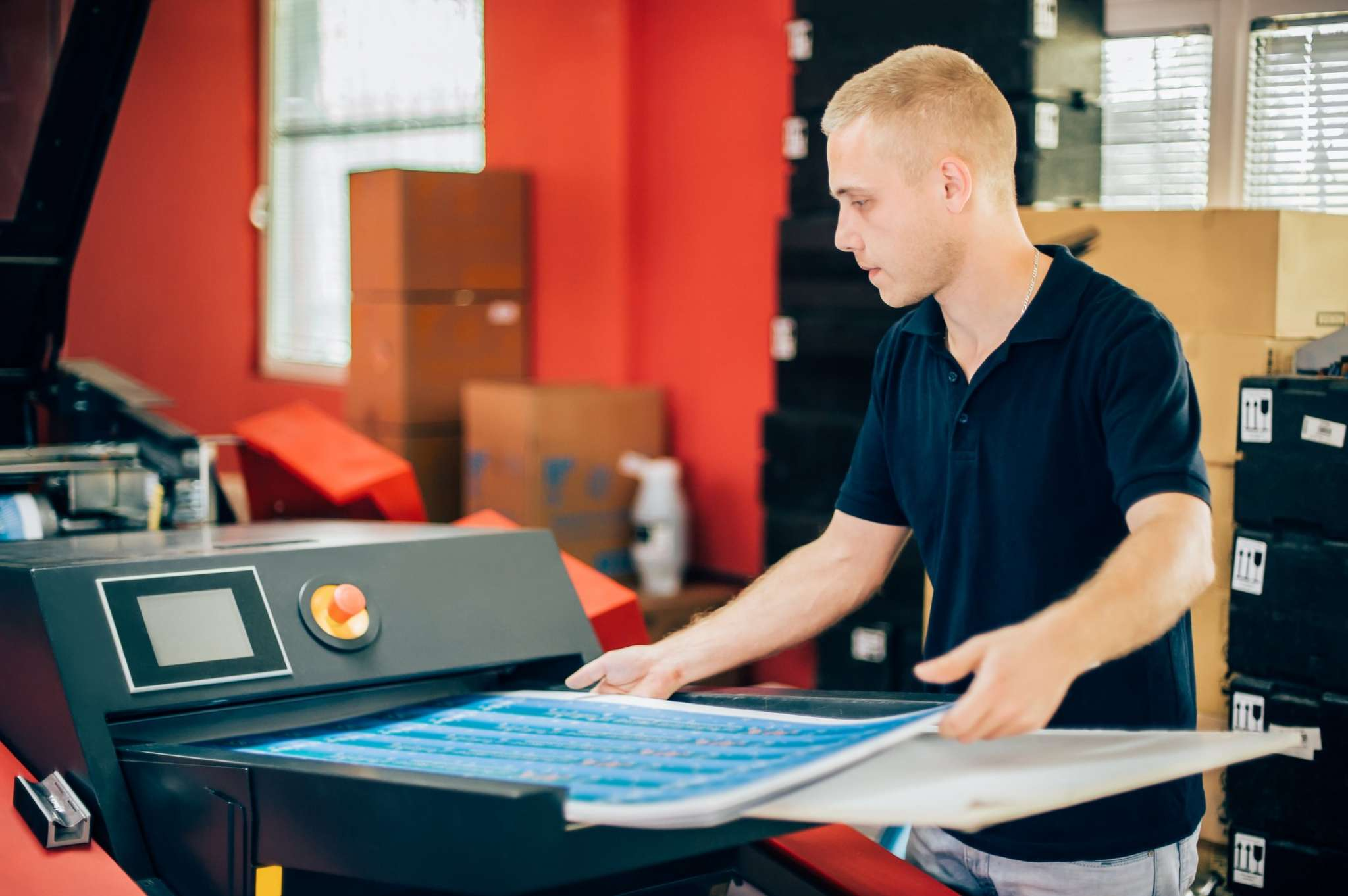 MBE specialist working in one of our printing centres.