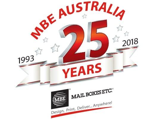 MBE Australia 25 years banner