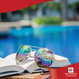 Sunglasses on book