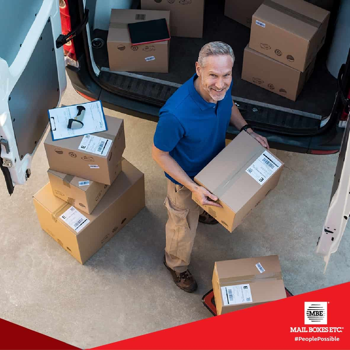 man with boxes shipping